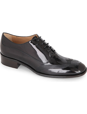 FERRAGAMO Nueda patent-leather brogues