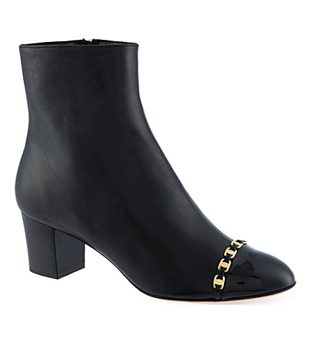 FERRAGAMO Leather ankle boots (Black