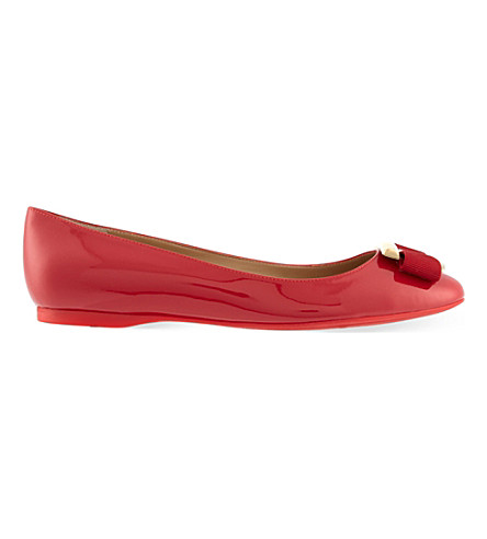 SALVATORE FERRAGAMO Ninna ballet pumps (Red