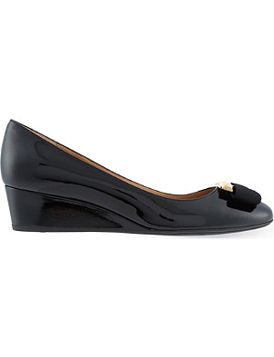 FERRAGAMO Ninna 40 wedge courts