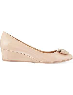FERRAGAMO Ninna 40 wedges court shoes