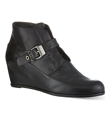 STUART WEITZMAN Black wedged boots (Black