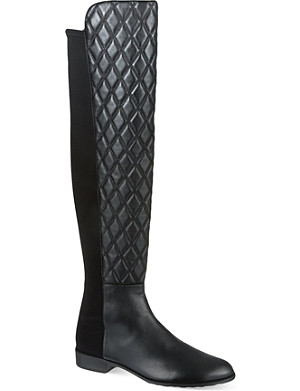 STUART WEITZMAN Quiltboot knee-high boots