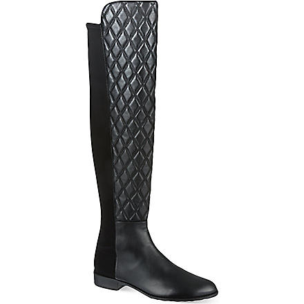 STUART WEITZMAN Quiltboot knee-high boots (Black