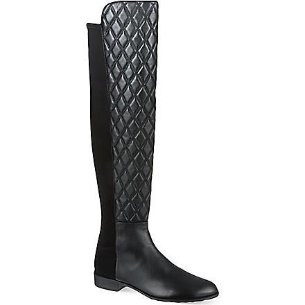 STUART WEITZMAN Quiltboot knee-high boots (Black