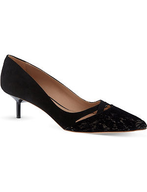 KURT GEIGER Cassidy II suede court shoes