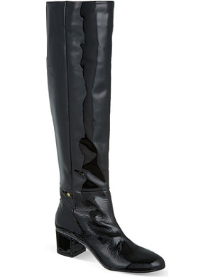 KURT GEIGER Dusty patent leather riding boots