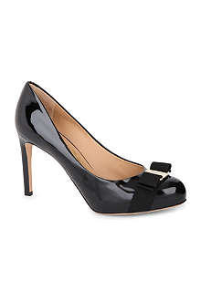 FERRAGAMO Pimpa patent-leather courts
