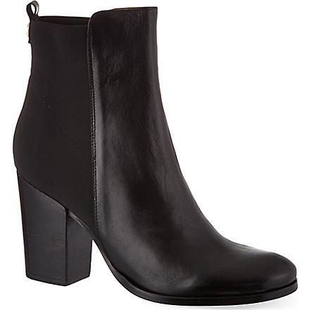 KURT GEIGER Jacob leather ankle boots (Black