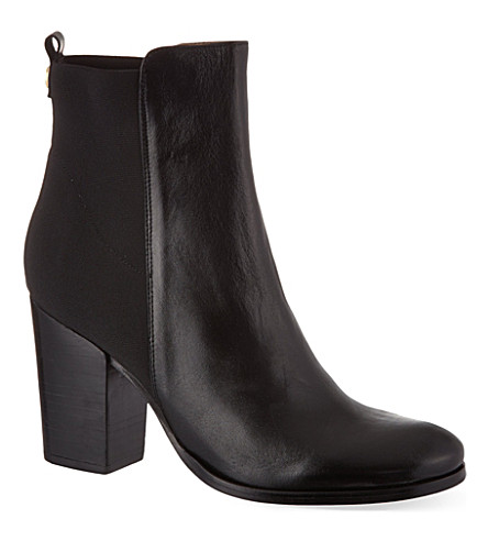 KURT GEIGER LONDON Jacob leather ankle boots (Black