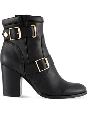 KURT GEIGER LONDON Aubrey leather heeled ankle boots