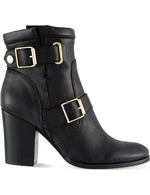 KURT GEIGER Aubrey leather heeled ankle boots