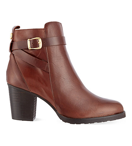 KURT GEIGER LONDON Sofie leather ankle boots (Brown