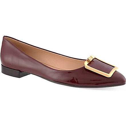 TORY BURCH Grayson patent pumps (Wine