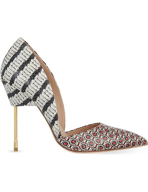 KURT GEIGER LONDON Bond printed leather courts