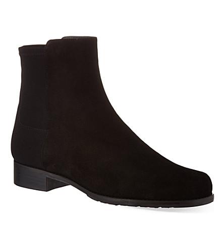 STUART WEITZMAN Easyon suede ankle boots (Black