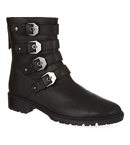 STUART WEITZMAN Jitterbug buckled ankle boots (Black