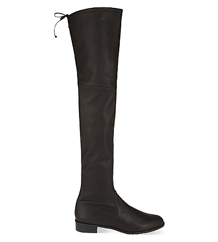 STUART WEITZMAN Lowland leather thigh boots (Black