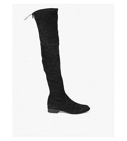 STUART WEITZMAN Lowland suede thigh boots (Black