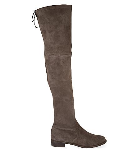 STUART WEITZMAN Lowland suede thigh boots (Grey