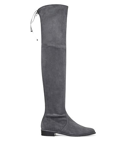 STUART WEITZMAN Lowland suede thigh boots (Grey/dark