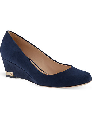 TORY BURCH Astoria suede wedge pumps