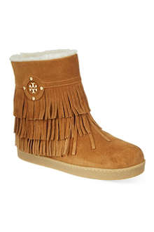 TORY BURCH Collins suede booties