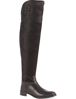TORY BURCH Simone over-the-knee leather boots