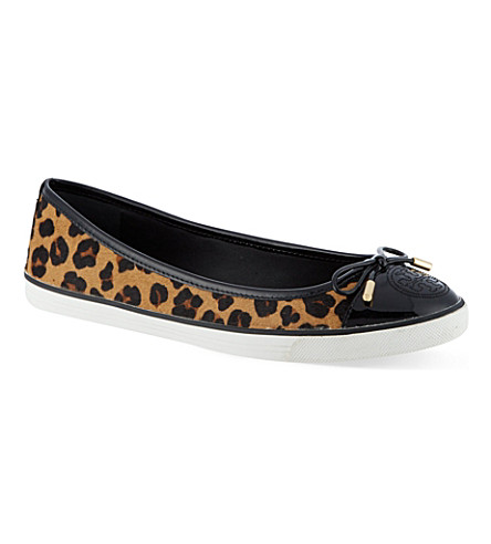TORY BURCH Skyler leopard print sneakers (Brown/oth