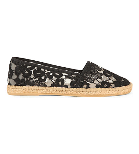 KURT GEIGER LONDON Blonda flat espadrilles (Blk/other