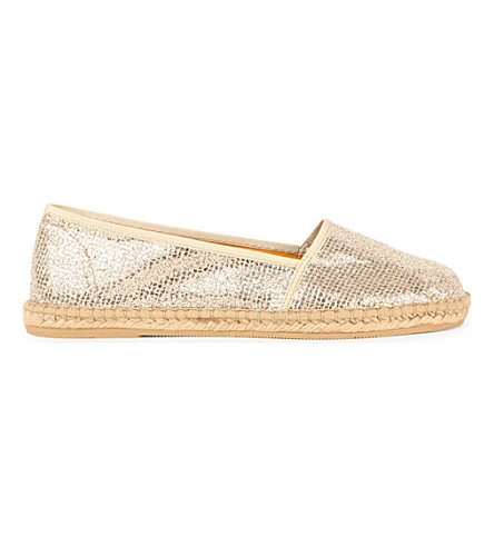KURT GEIGER LONDON Blonda flat espadrilles (Peach