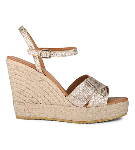 KURT GEIGER LONDON Amerie wedge sandals (Peach