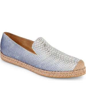STUART WEITZMAN Catalan leather espadrilles