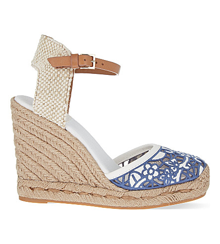 TORY BURCH Lucia wedge sandals (Mid blue