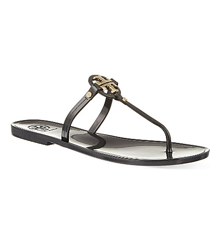 TORY BURCH Thong rubber sandals (Black