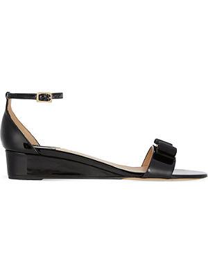 FERRAGAMO Margot patent leather sandals