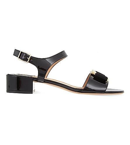 SALVATORE FERRAGAMO Marie patent sandals (Black