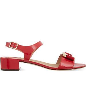 FERRAGAMO Marie patent sandals