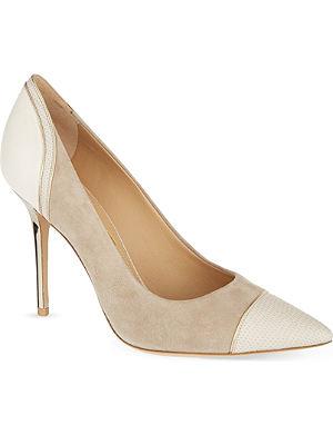 FERRAGAMO Moony leather court heels