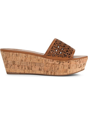 TORY BURCH Elaine perforated wedges