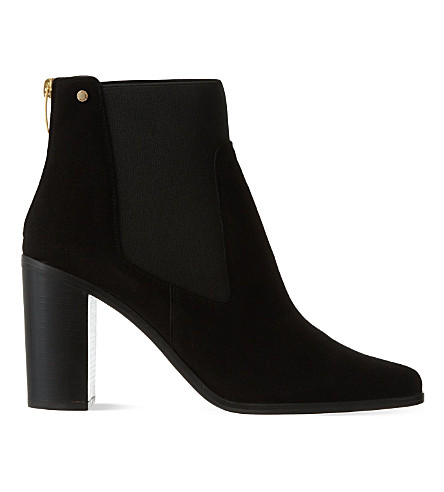 KURT GEIGER LONDON Dellow suede ankle boots (Black
