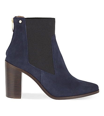 KURT GEIGER LONDON Dellow suede ankle boots (Navy
