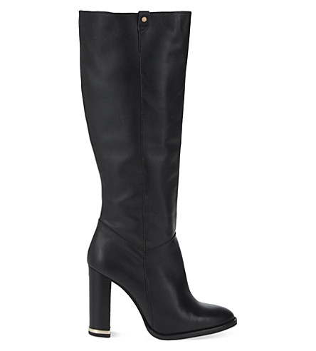 KURT GEIGER LONDON Dane leather knee-high boots (Black