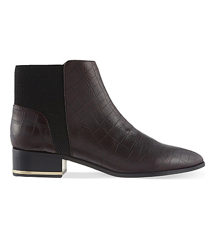 KURT GEIGER LONDON Nevern leather ankle boots (Wine