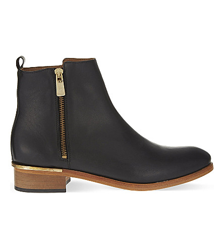 KURT GEIGER LONDON Dansey leather ankle boots (Black