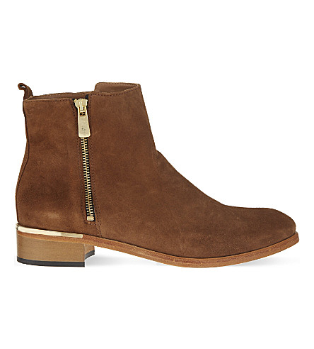 KURT GEIGER LONDON Dansey suede ankle boots (Tan