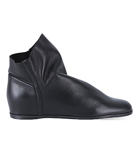 STUART WEITZMAN Sprite leather ankle boots (Black