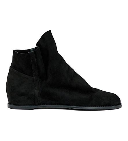 STUART WEITZMAN Sprite slouchy suede ankle boots (Black