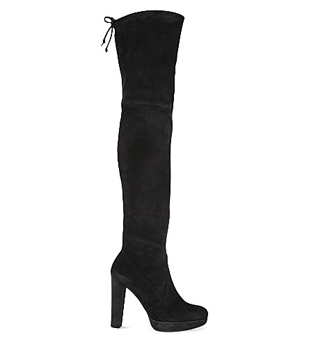 STUART WEITZMAN Highland knee-high suede boots (Black