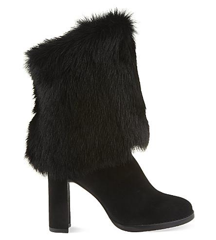 STUART WEITZMAN Snowman faux fur boots (Black